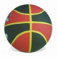 Rubber Basketball with Yellow Channel and CE Standard, Weighs 600 to 650g Manufactures