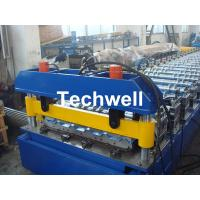 Hydraulic cutting Metal Roofing Cold Roll Forming Machine 13 - 22 Stations TW27-195-780 Manufactures
