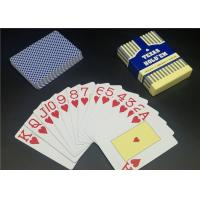 0.3 0.32mm Thickness Matt Varnish Casino Playing Cards Full color Plastic Material Manufactures