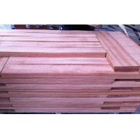 Sliced Cut Natural Red Sapele Wood Veneer Flooring Sheet For Furniture Manufactures