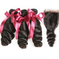 12A Grade Peruvian Hair Weave Unprocessed Raw Loose Wave Virgin Hair Extension Manufactures