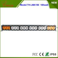 14400lm  32.6 inch amber and white color cover 180w single stack off-road led light bar Manufactures