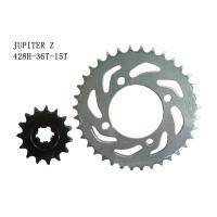 JUPITER Z Motorcycle Sprocket Chain 36T-15T Heat Treatment Surface ISO Approval Manufactures