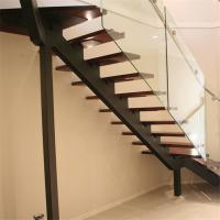 China Straight Stainless Steel Single Stringer Staircase on sale