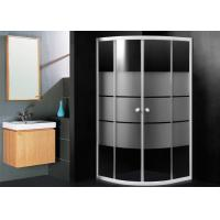 Frosted Glass Bathroom Shower Enclosures , Sector Shape Corner Door Bathroom Shower Cubicles Manufactures