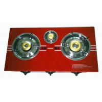 Electric Ignition Natural Gas Hob , 3 Burner Gas Stove With Glass Top Manufactures