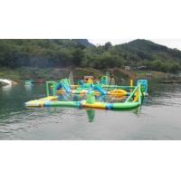 0.9MM PVC Customised Inflatable Water Park Toys / Inflatable Float Water Theme Park Manufactures