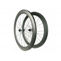 Carbon Disc Brake Road Wheels For DT350S Hub , Anti Slip Carbon Fiber Cycling Wheels Manufactures