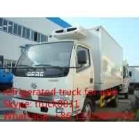 Quality Dongfeng 4*2 LHD  small refrigerated van and truck for sale ,4ton CLW brand refrigerator van truck for meat and fish for sale
