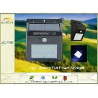 Quality 200LM IP65 1W SMD 2835 Solar Motion Detector Lights With 3.7v 900mah Battery for sale