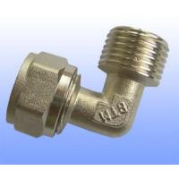compression brass fitting male elbow for PEX-AL-PEX Manufactures