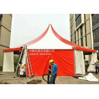 Circus Romantic Aluminium Alloy Octagonal Red PVC Cloth Tents For Parties With PVC Walls Manufactures
