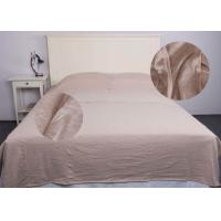 Jersey Oatmeal Modern Bedding Sets Comfortable With Single / Double Sleeping Bags Manufactures