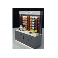 Grey Mobile Wall Mounted Display Cabinets Two Ways Floor Standing For Showroom Manufactures