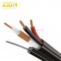 Zinned Steel Messenger CCTV Coaxial Cable / CCA Power RG59 Siamese Cable