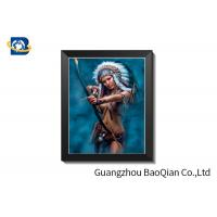 Knight Theme ODM 3D Lenticular Sheet Picture With PVC Frame 30 X 40 CM Manufactures