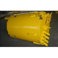 Bore Piling Rock Bucket Flat Teeth  Double Bottom Open For Weathered Soft Formation Manufactures
