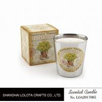 Beautiful Smelling Home Scents Candles , Aromatherapy Soy Candles Amber Fragrance Manufactures