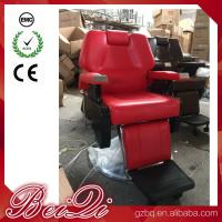 Big Pump Red BarberChairs Used Hair Styling Chairs Luxury Barber Shop Furniture Manufactures