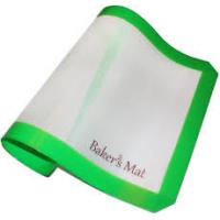White/coffee color fiberglass  silicone baking mat with yourself logo design Manufactures