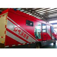 Quality 8000x2200x3400mm Dimension Fire Brigade Truck , Rated Output Power 50KW Fire for sale