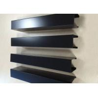 Quality Powder Coated Aluminium Channel Profiles Slotted Wood Grain Different Sized for sale
