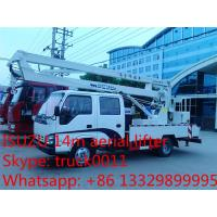 hot sale best price Japanese ISUZU 14m-16m high altitude operation truck, ISUZU 4*2 LHD aerial working truck for sale Manufactures