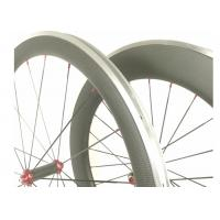 Quality Front 50MM Lightweight Alloy Road Bike Wheels V Shape With Toray 700 High Stiff for sale