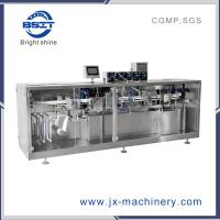 Plastic Ampoule Bottle Forming and Filling and Sealing Machine linked with labeling machine for drink Manufactures