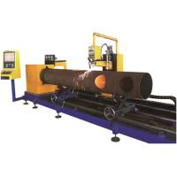 Round Steel Pipe Processing Machines 3 Axis Flame / Plasma Cutting Method Manufactures