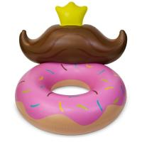 Durable Pvc Huge Donut Mustache Pool Lounge Floats For Kids 4 Feet Manufactures