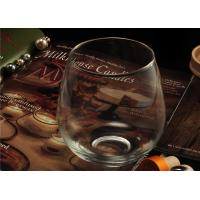 Morden Clear Wine Glass Tumbler / 20 Ounce Drinking Glasses Recyclable Manufactures