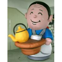 0.5mm PVC Custom Inflatable Products , Waiter In Work For Tea House Manufactures