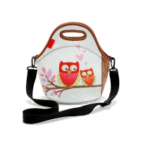 Heat Sealed Neoprene Lunch Bags With Shoulder Strap Manufactures