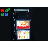 Quality Removable Magnetic Crystal LED Light Box Display A3 A4 Poster Size Hanging Power for sale