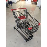 125 L Supermarket Shopping Trolley With 4 Swivel Flat Casters , 941 X 562 X 1001mm Manufactures