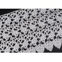White Flower Clothing Label Water Soluble Lace Trim For Garment Comfortable Manufactures