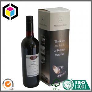 Quality Matte Custom Color Logo Printed Wine Carton Box; Single Bottle Wine Color Box for sale