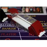 Magic Red Baccarat Dealing 8 Decks Poker Shoe Cheating Devices With HD Camera Manufactures