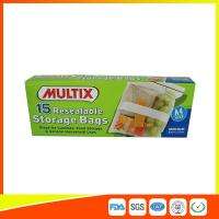 Supermarket Plastic Food Storage Bags / Zip Up Storage Bags Resealable Food Safe Manufactures