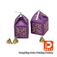 Quality Laser Cut Delicate Custom Printed Packaging Boxes , Purple Small Wedding Favor for sale