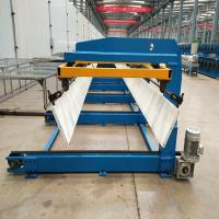 Roof Panel Sheet Automatic Sheet Stacker Machine / Auto Stacking Machine For Steel Panel Manufactures