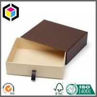 Brown Color Kraft Paper Gift Box Drawer Style; Chipboard Paper Gift Box Manufactures