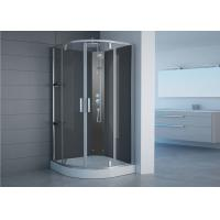 Quality Semi Frameless Free Standing Glass Shower Enclosures With Shower Tray Pivot Opening for sale