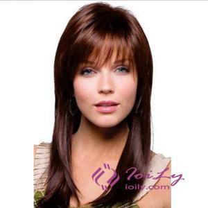 Capless Dark Brown Long Hair Wigs For Women
