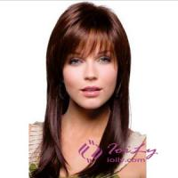 Quality Capless Dark Brown Long Hair Wigs For Women for sale