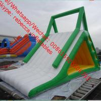 Big Inflatable Water Toys , Beach Water Slide With Fun amusement park water slide Manufactures