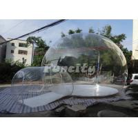 Transparent PVC Inflatable Comping Bubble Tent For Customized Size Manufactures