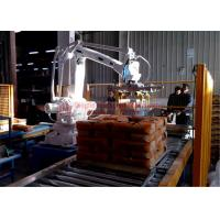 China High Strength Automatic Stacking Machine , Fast Packing Robotic Bag Palletizer on sale