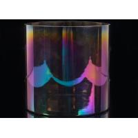 Glass Cylinder Candle Holders Wedding Decorative Rainbow Iridescent Glass Candle Jar Manufactures